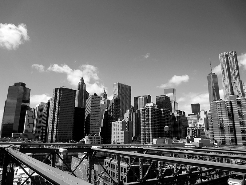 New York from Brooklyn Bridge
