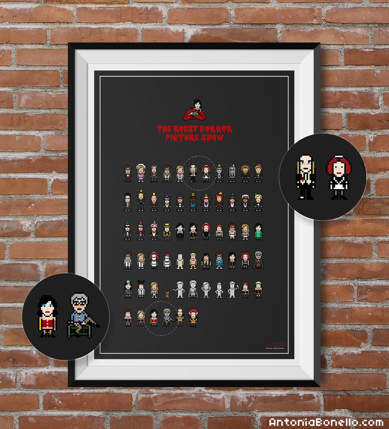 Limited Edition: The 8-Bit Rocky Horror Picture Show Poster