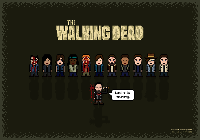 New Work: The 8-Bit Walking Dead
