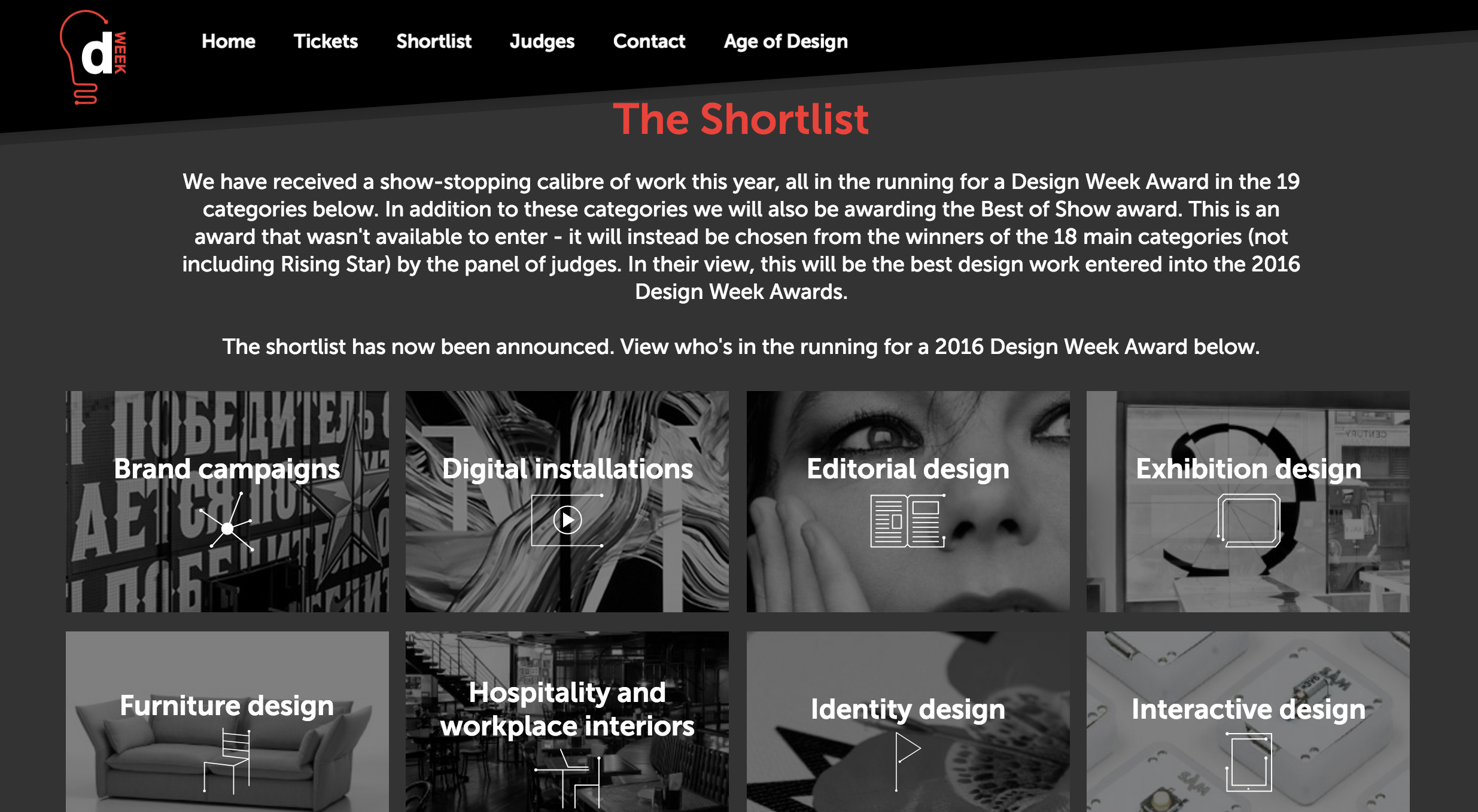 Shortlisted For Design Week Awards' Rising Star!