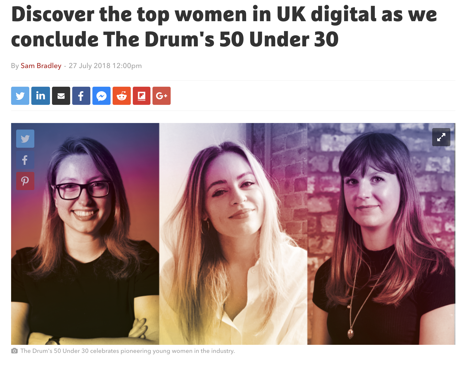 Named in The Drum's 50 Under 30 UK!